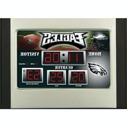 NFL Scoreboard Desk Clock, Philadelphia Eagles