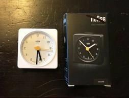 NIB Braun BNC002 White Classic Analog Quartz Alarm Clock
