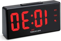 "PEAKEEP Large 6.8"" Night Light Digital Alarm Clock with USB"