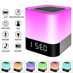 Night Light Bluetooth Speaker, Touch Sensor Bedside Lamps, W