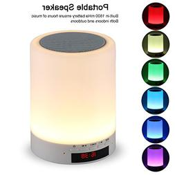 Night Light Bluetooth Speaker, Tranesca Portable Wireless Bl