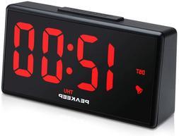 PEAKEEP Night Light Plug in Digital Alarm Clock with USB Cha