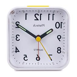 Non Ticking Analog Alarm Clock with Nightlight and Snooze As
