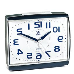 POWER Large Size Non Ticking Household Alarm Clock for Bedro