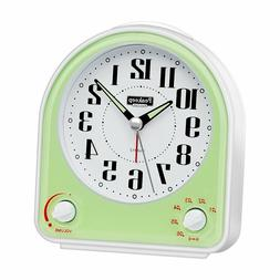 Peakeep Non-Ticking Silent Alarm Clock, AA Battery Operated