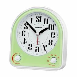 Peakeep Non-Ticking Silent Alarm Clock, Optional 7 Wake-Up S