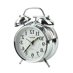 """Mokeep Alarm Clock for Heavy Sleepers 4"""" Twin Bell Vintage A"""