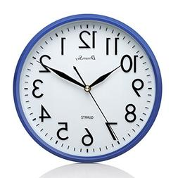 """DreamSky 10"""" Non Ticking Wall Clock,Decorative Indoor/Kitche"""