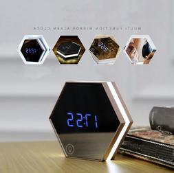 Novelty Alarm Clock LED Night Light Digital Thermometer Make
