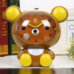 Novelty Animal Bear Talking Silent Sweep Cartoon Alarm Clock