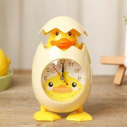 Novelty Cartoon Eggshell Alarm Clock Bedroom Home Decoration