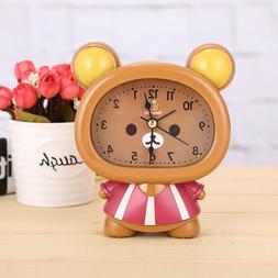 Novelty Cute Bear Silent Sweep Analog Small Home Plastic Ala
