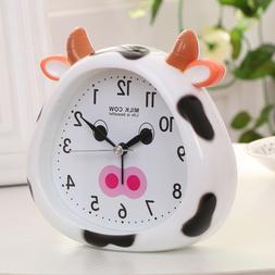 Novelty Cute Milk Cow Alarm Clock for Kids Silent Sweep Home