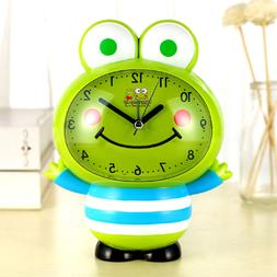 Novelty Silent Sweep Cartoon Cute Talking Frog Alarm Clock w