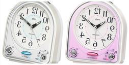 Seiko NR435 Alarm Clock Analog 31 Songs Melody Alarm Pyxis *