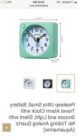 NWB Peakeep Mini Teavel Alarm Clock, Mint/Aqua - Minimalist,