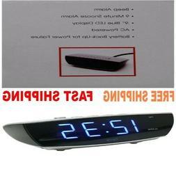 ORIGINAL Digital Alarm Clock Style For Boys & Girls Blue LED