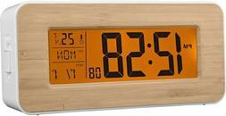 ACCTIM OTTO RADIO CONTROLLED LCD DIGITAL ALARM CLOCK, SNOOZE