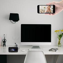 FREDI HD 1080P P2P Wifi Hidden Camera Alarm Clock Remote Sur