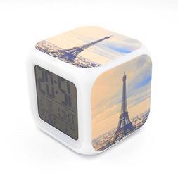 Boyan New Paris Landmark Eiffel Tower Led Alarm Clock Creati