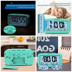 Peakeep Battery Operated Cordless Digital Clock with 2, Dual