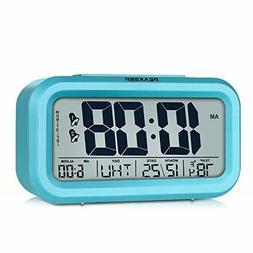 Peakeep Digital Alarm Clock with 2 Alarms for Optional Weekd