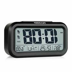 Peakeep DST Battery Digital Dual Alarm Clock, Low High Dimme