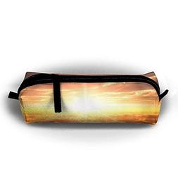 Kui Ju Pencil Bag Pen Case Sunrise Over Sea Clouds Cosmetic