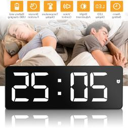 Electronic LED Digital Alarm Clock Blue Light Thermometer Di