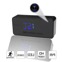 PIR Clock Hidden Camera Motion Sensor Night Vision Alarm Tem