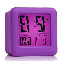 Plumeet Easy Setting Travel Alarm Clock w/ Snooze,Soft Night