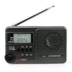 Retekess Portable AM/SW/FM Radio Digital Clock Alarm MP3 Pla