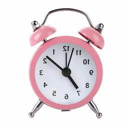 Portable Alarm Clock Quartz Movement Old School Vintage Styl