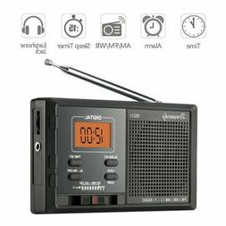 DreamSky Portable AM FM NOAA Weather Radio Alarm Clock, 12 /
