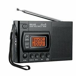 DreamSky Portable AM/FM Radio Alarm Clock, Earphone Jack, 12