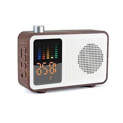 Miaboo Portable Bluetooth Speaker, Wooden Retro Stereo Wirel
