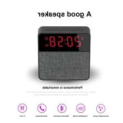 Portable Digital Bluetooth Speaker with Alarm Clock FM Radio