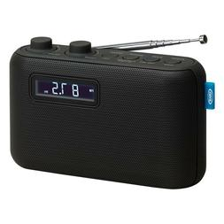 PORTABLE DIGITAL RADIO Dual Alarm Clock AM FM Audios Auxilia