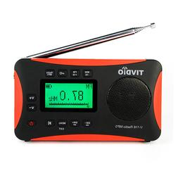 TIVDIO Portable Radio FM MW SW World Receiver MP3 Player Sle