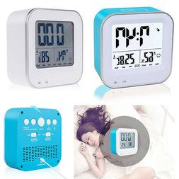 Portable Rechargeable LED Digital Clock Soft Nightlight Snoo