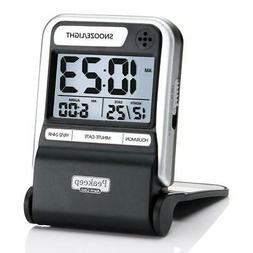 portable ultra compact battery travel alarm clock