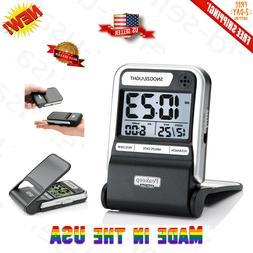 Portable Ultra Compact Battery Travel Alarm Clock Small Digi