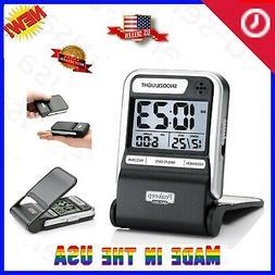 Portable Ultra Compact Battery Travel Alarm Clock Small-Digi