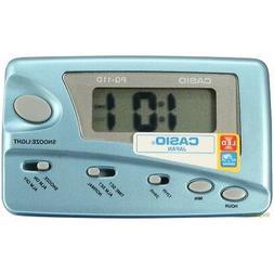 CASIO PQ-11D-8R SILVER Digital LED Travel Alarm Clock w/ SNO