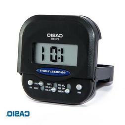 Casio PQ-30B-1DF Pocket Travel Alarm Beep Black  Clock Snooz
