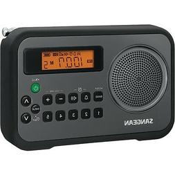 SANGEAN PR-D18BK AM/FM Digital Portable Receiver with Alarm