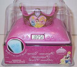 DISNEY PRINCESS Tiara Ceiling PROJECTION ALARM CLOCK Belle C