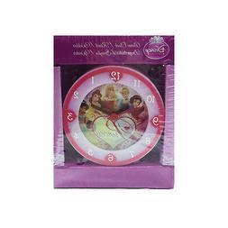 PRINCESSES alarm clock pink light and fuchsia plastic 3 1/8x