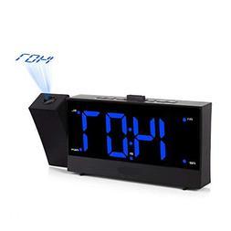 V.JUST Projection Alarm Clock, Digital FM Radio Alarm Clocks