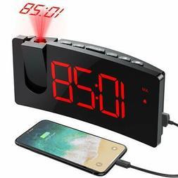 projection alarm clock 4 dimmer digital clock